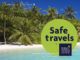 Maldives Safe Travel Destination label