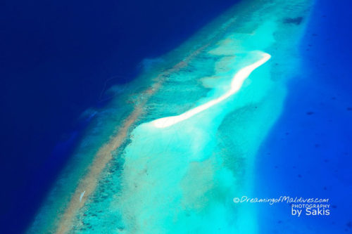 Photo of One of the 100's Maldives Sandbanks from the air