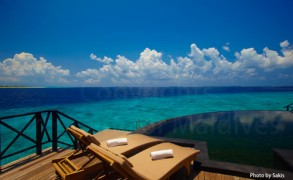 Maldives Resort | Water Villa with a lagoon View at Beach House at Iruveli Maldives