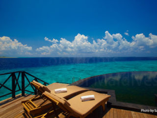 Maldives Resort, Water Villa with a lagoon view in Haa Alifu Atoll