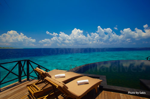 Maldives Resort, Water Villa with a lagoon view in Haa Alifu Atoll