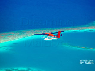 Maldivian Air Taxi seaplane Maldives Aerial Photo