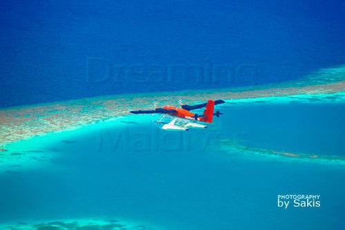 Maldivian Air Taxi seaplane Maldives Aerial Photo