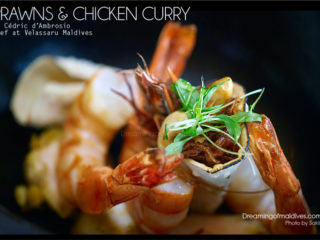 Maldives Chicken and prawns Curry Recipe at Velassaru