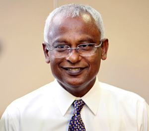 New runner-up for Maldives Presidency Ibrahim Mohamed Solih. Credit MDP