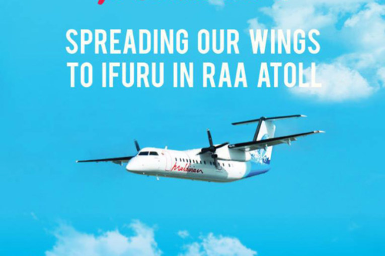 Maldivian new route to Raa Atoll at Ifuru Domestic Airport