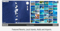 New Interactive Photo Map of the Maldives featuring Resorts, Atolls, all Airports and key Islands