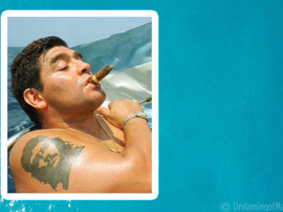 Diego Maradona spends some holidays in the Maldives