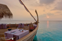 Milaidhoo Ba'theli Floating Lounge & Restaurant. (Welcome to Milaidhoo, a Resort Island Made for You. Visit and Photos)