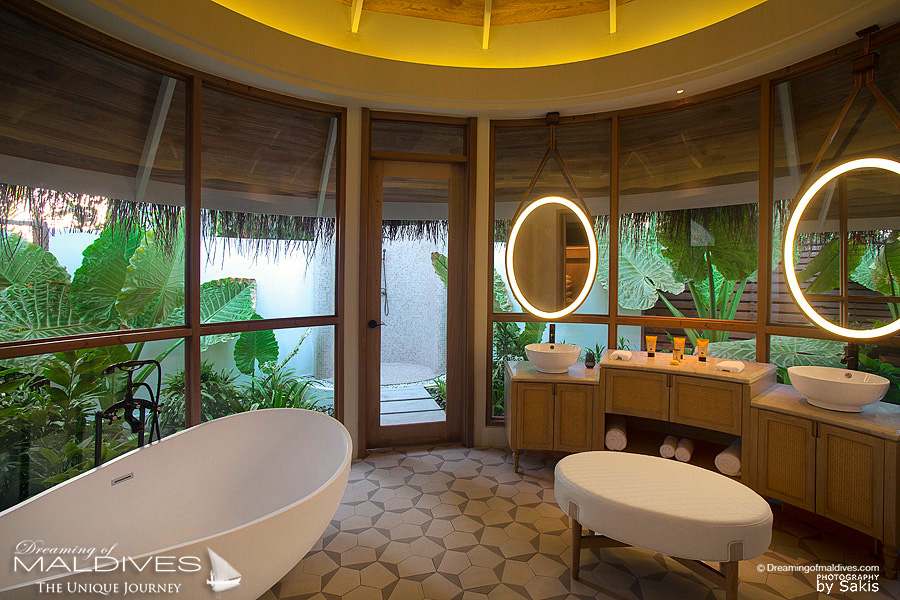 Milaidhoo Maldives Beach Pool Villa. The Bathroom