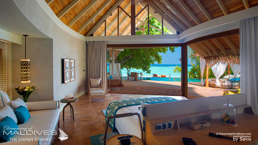Milaidhoo. The view from the Beach Pool Villa bedroom