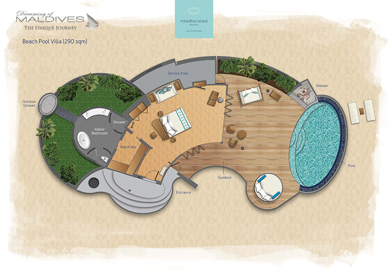 Milaidhoo Beach Pool Villas. Floor Plan