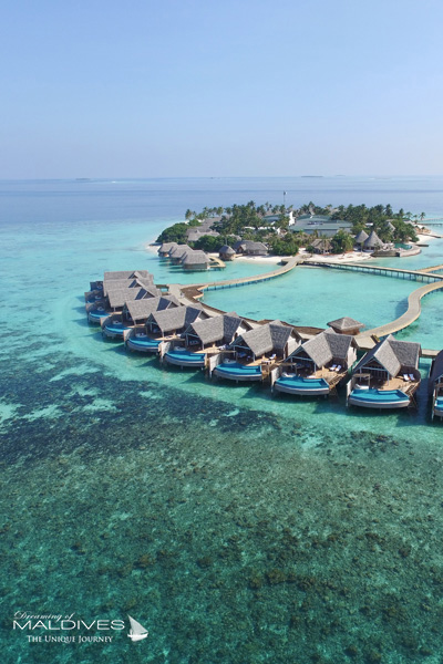 Milaidhoo Maldives Water pool Villas aerial view