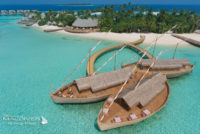 Milaidhoo Maldives Ba'theli Signature Restaurant shaped as dhonis