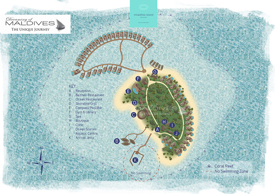 Milaidhoo resort map