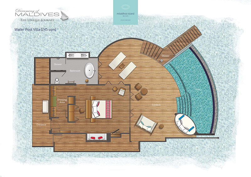 Milaidhoo floor plan water villa