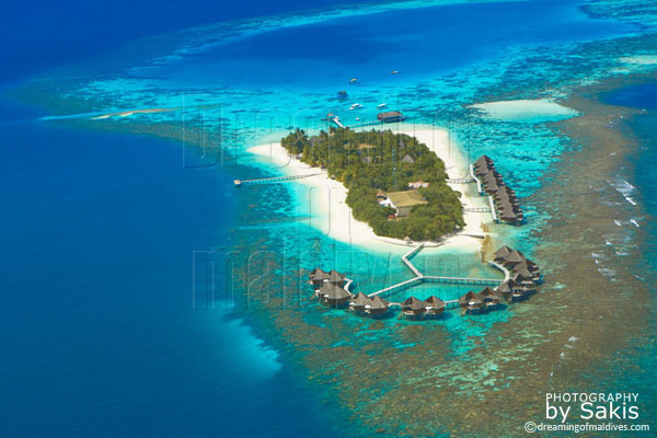 mirihi maldives aerial view photo gallery