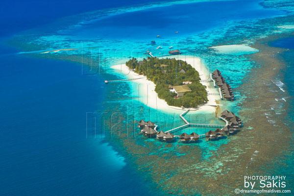 mirihi maldives aerial view photo gallery