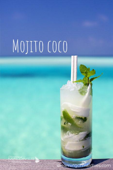 Cocktail Mojito Coco at Gili Lankanfushi Maldives
