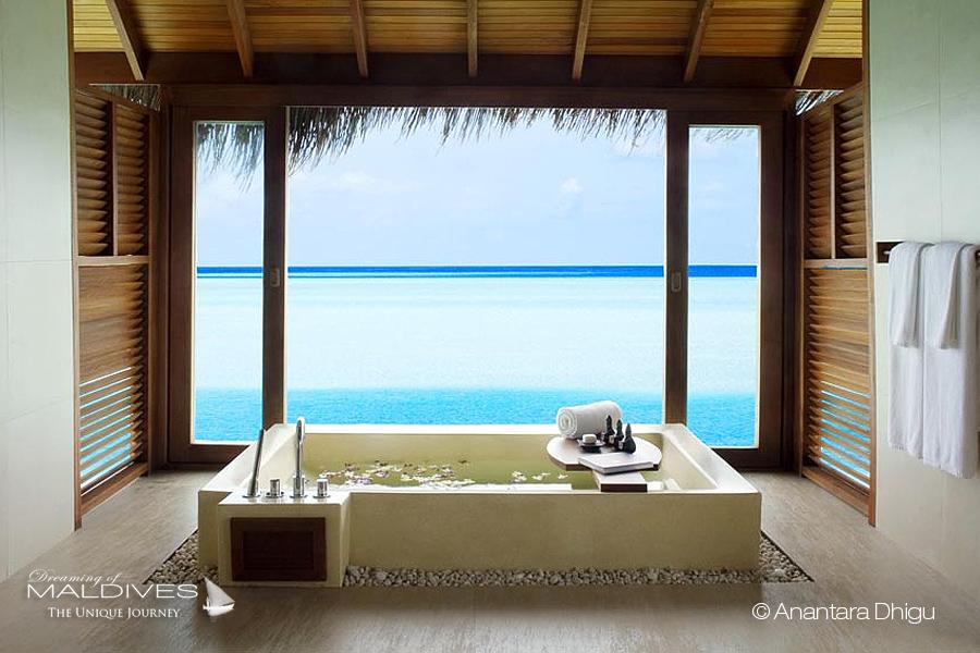 The Most Extraordinary Hotel Bathrooms in Maldives - ANANTARA DHIGU