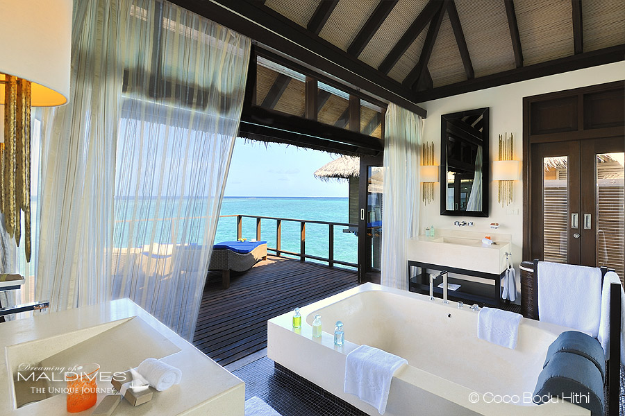 The Most Extraordinary Hotel Bathrooms in Maldives - COCO BODU HITHI