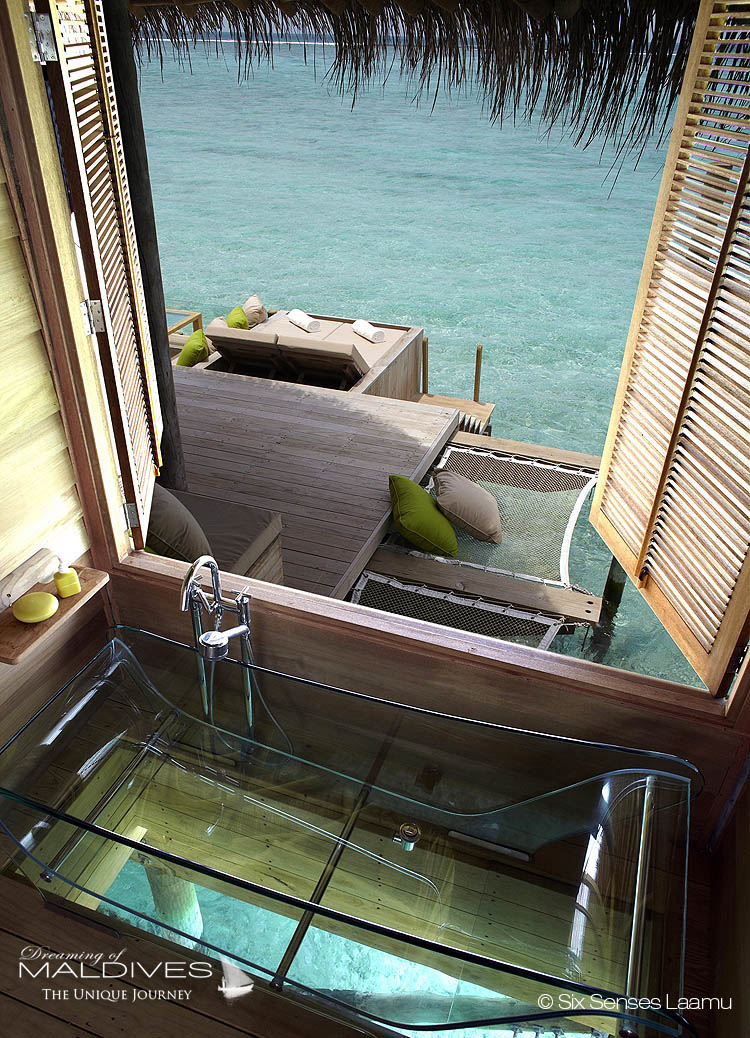 The Most Extraordinary Hotel Bathrooms in Maldives - SIX SENSES LAAMU