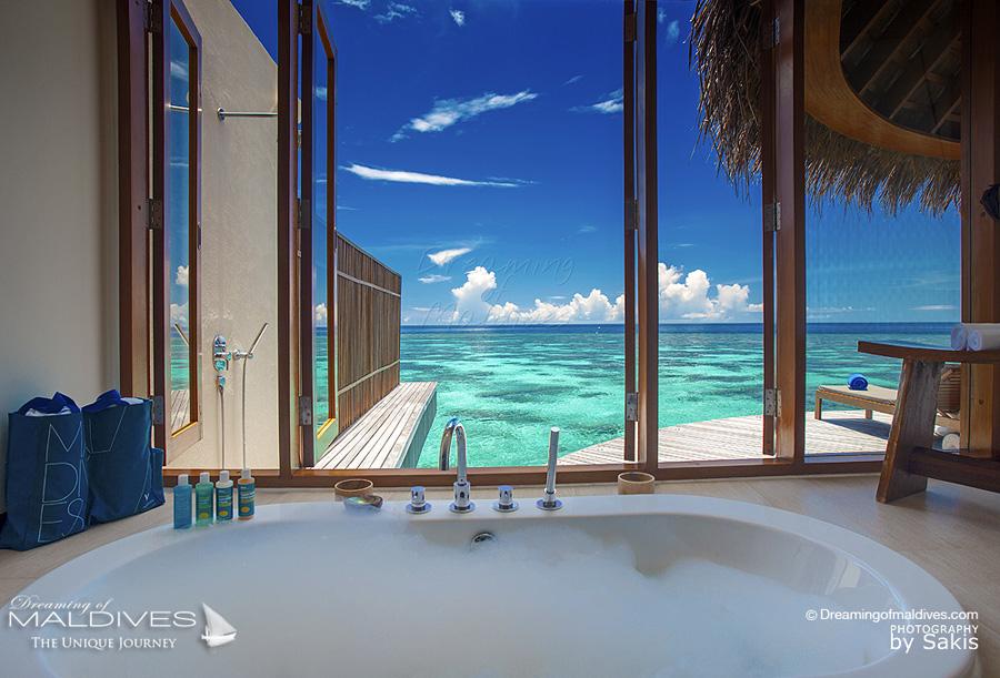 The Most Extraordinary Hotel Bathrooms in Maldives - W MALDIVES