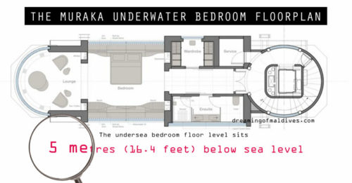 The Muraka Underwater Bedroom Floorplan map inside
