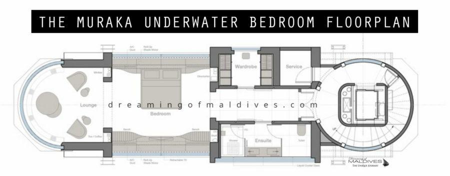 The Muraka underwater bedroom floorplan