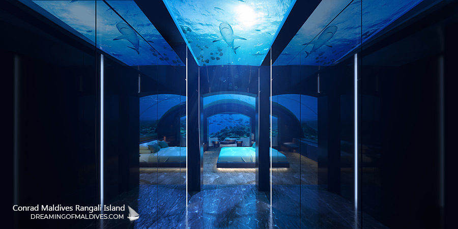 Sleep alongside the wonders of the endless ocean at The Muraka Underwater Bedroom