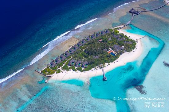 Naladhu Maldives - Photo Gallery.  Aerial View of the Island - Photo 2 | Photo © Sakis Papadopoulos