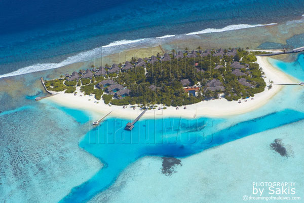 Naladhu Maldives aerial view photo gallery