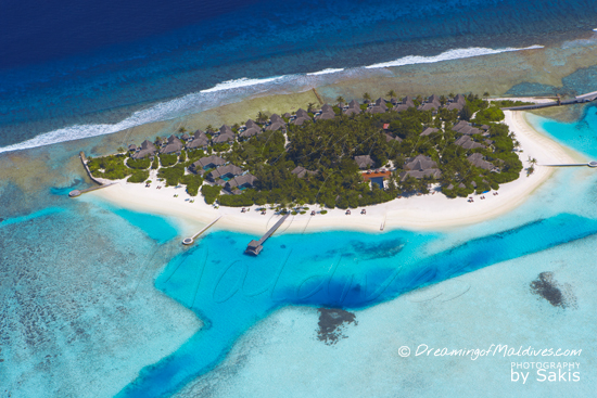 Naladhu Maldives - Photo Gallery. Aerial View of the Island - Photo 1