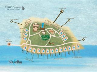 Naladhu Maldives Resort Map