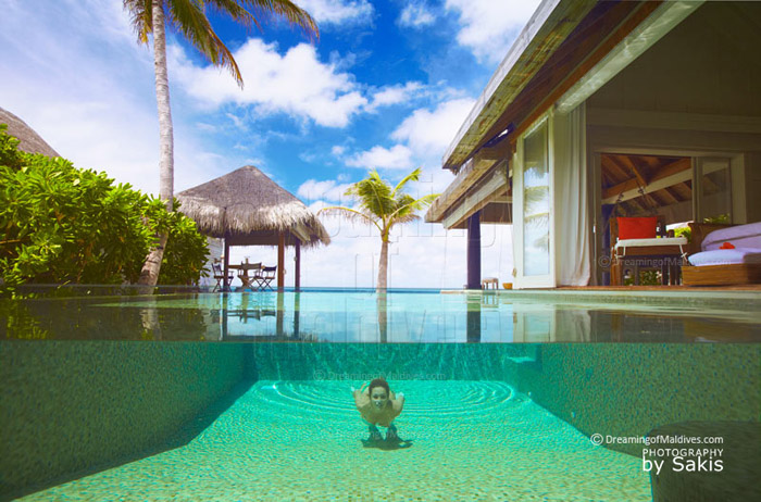 Naladhu Maldives, Diving in the Private Plunge-Pool at your House