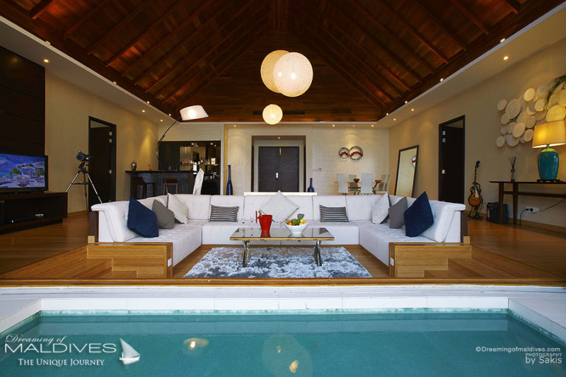 Niyama Maldives Ocean Pavilion - The Living Room. Viewed from the Pool