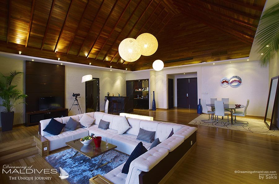 Niyama Maldives Ocean Pavilion - The Living Room.