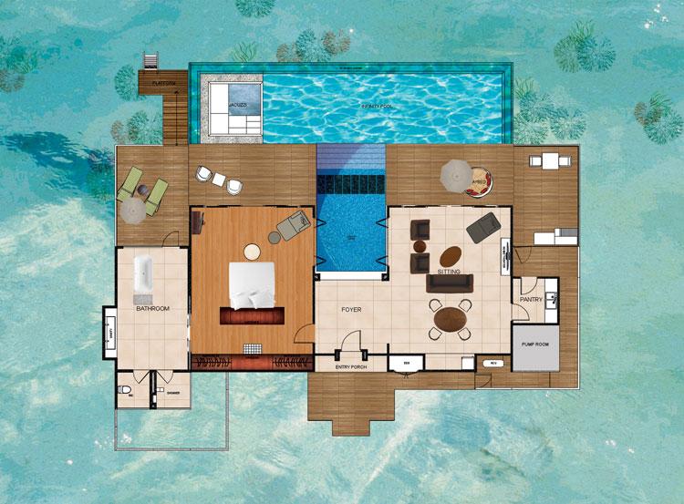 Niyama Maldives - Ocean Pavilions Floorplan