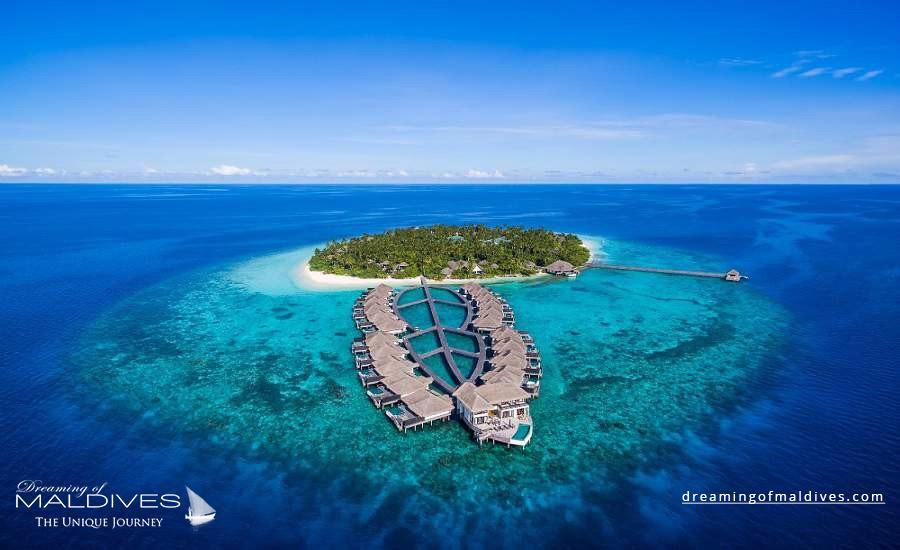 Outrigger Konotta Maldives Resort Aerial Photo