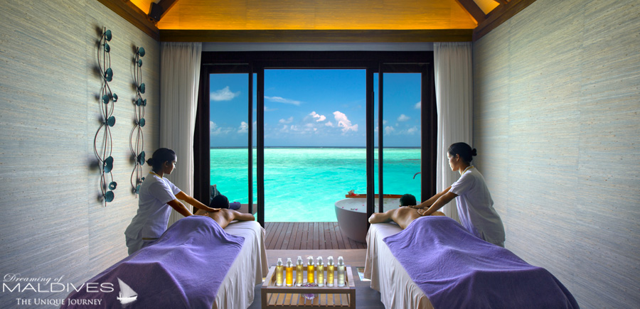 Ozen at Maadhoo Maldives. All Inclusive includes a Massage for 2 at the SPA.