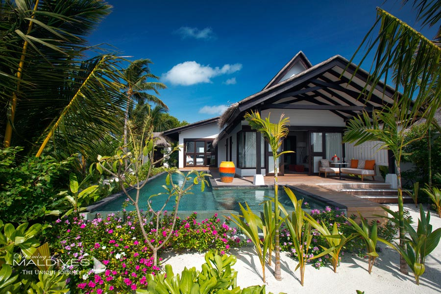 Ozen at Maadhoo Maldives. Beach Villa With Pool called Earth Villa