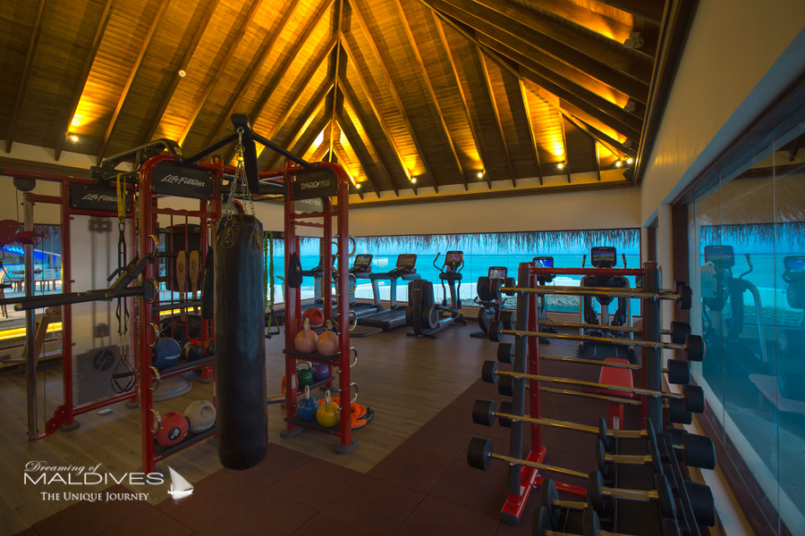 Ozen at Maadhoo Maldives. Fitness Room with Lagoon View