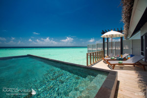 Maldives. Photo of The Day : The View From OZEN at Maadhoo Water Villa