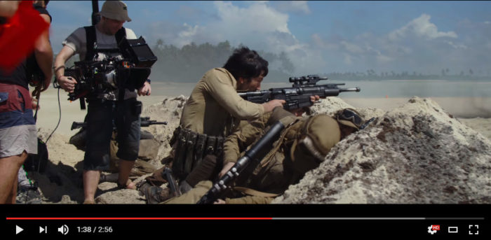 Star Wars Rogue One Filming in Maldives for Planet Scarif. Screenshots. Copyrights Star Wars / YouTube channel