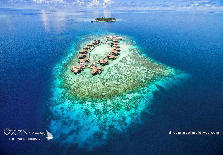 Raffles Meradhoo Maldives Resort Aerial Photo