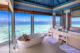 beautiful Bathroom with Ocean view at Westin Maldives Miriandhoo