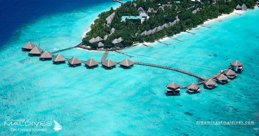 Adaaran Rannalhi Maldives Resort Aerial Photo