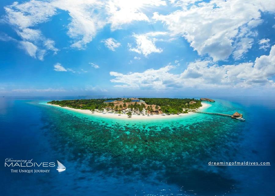 Reethi Faru Maldives Resort Aerial Photo