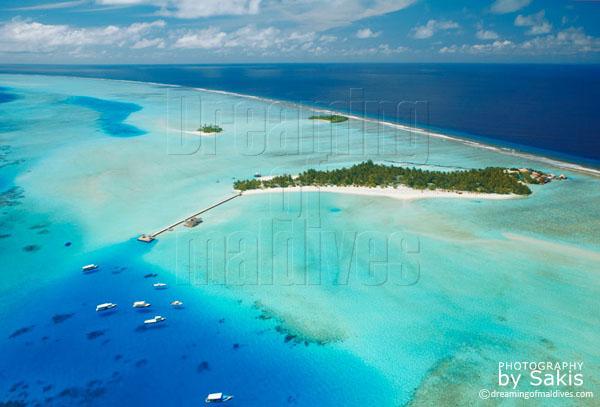 Rihiveli maldives aerial view photo gallery