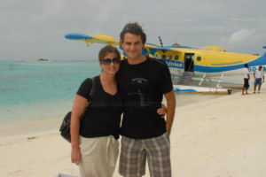 Tennis Champion Roger Federer loves Maldives too !